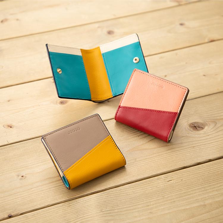 2つ折りエッジカラー財布(アシンメトリー)ギャラリー画像1