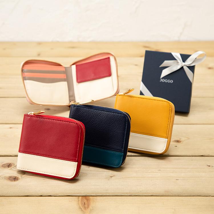 彼女へのクリスマスプレゼントにおすすめなレディースブランドのお財布はJOGGOのラウンド2つ折り財布です