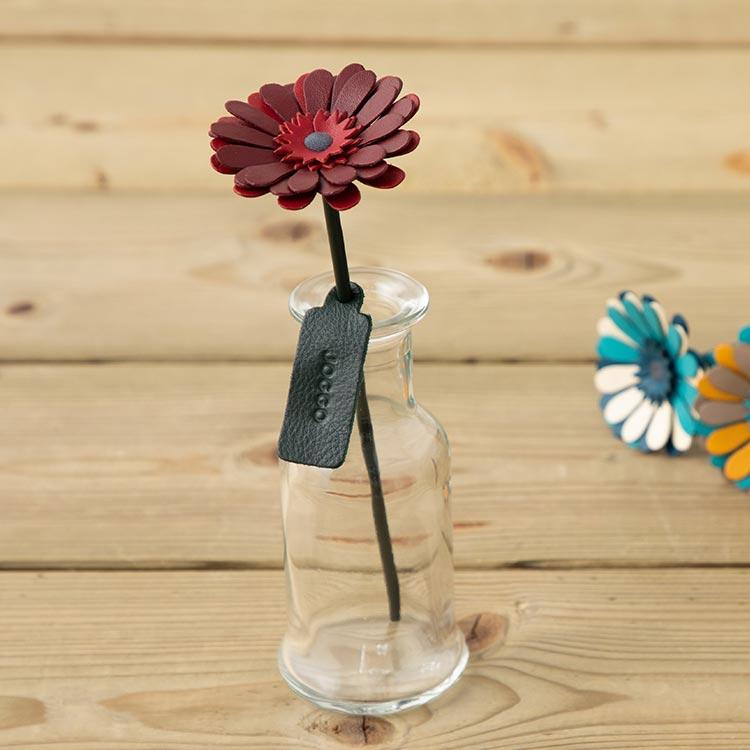 革の一輪花(ガーベラ)ギャラリー画像1